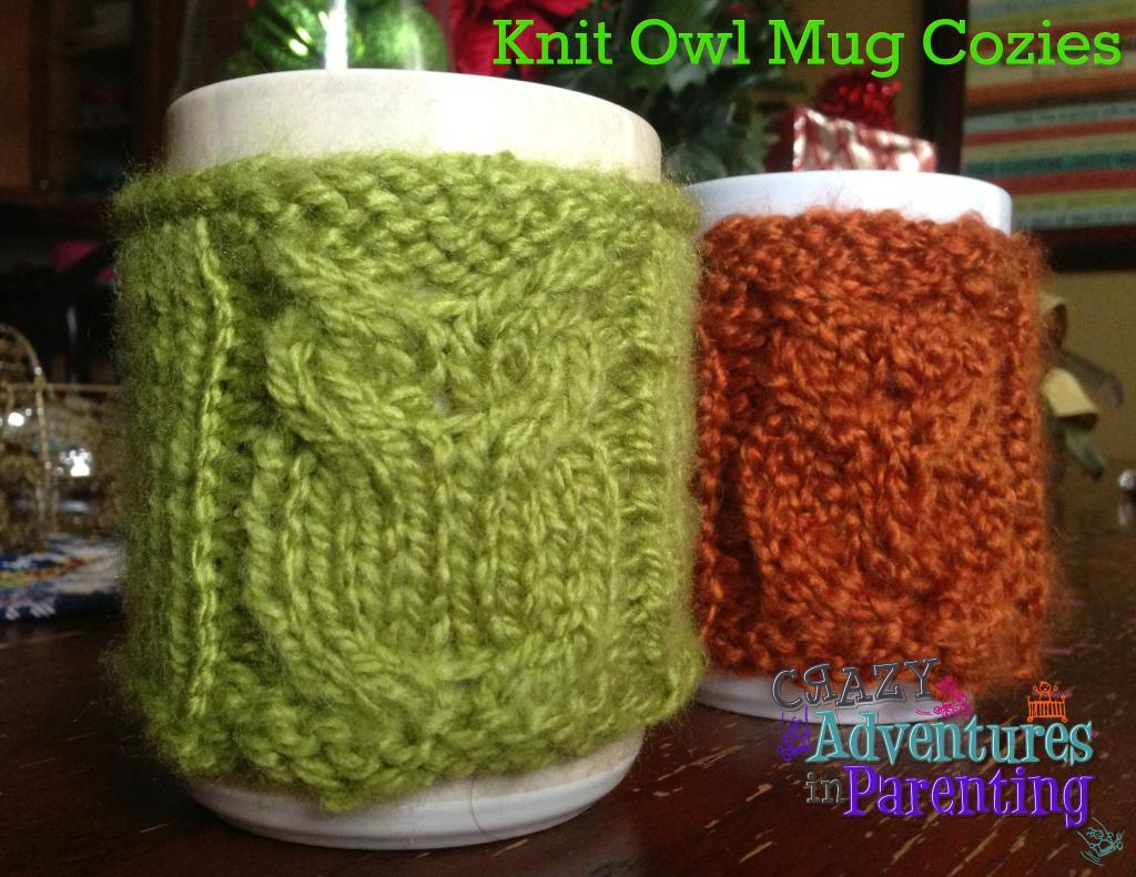 knit owl mug cozy