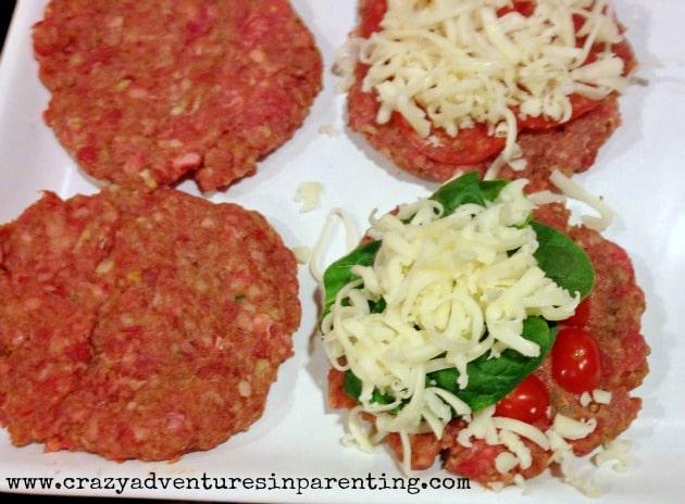 pizza stuffed burgers