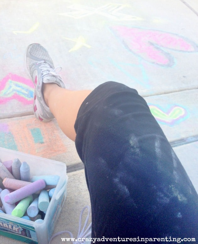 sidewalk chalk with kids