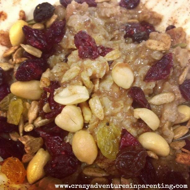 trail mix oatmeal