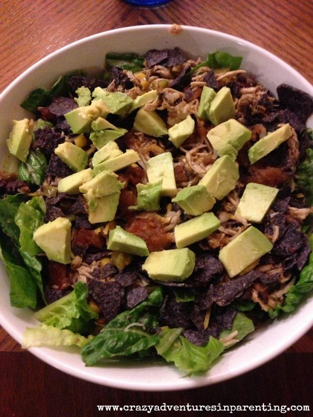 chicken avocado salsa salad