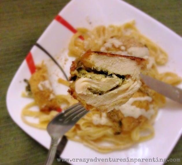 spinach artichoke dip chicken rollatini