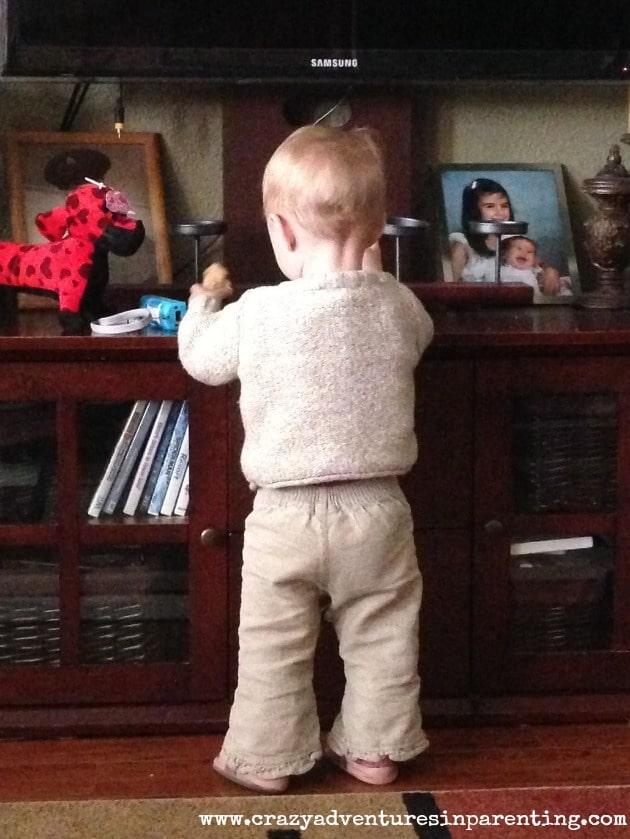 standing baby