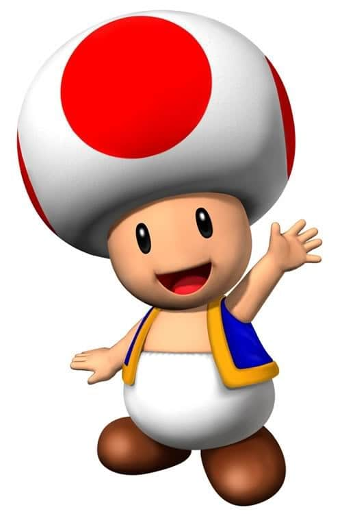 Nintendo Super Mario Brothers Clipart Toad