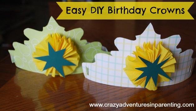 Easy DIY Birthday Crown