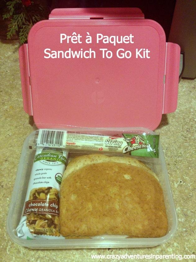 Prêt à Paquet sandwich to go kit