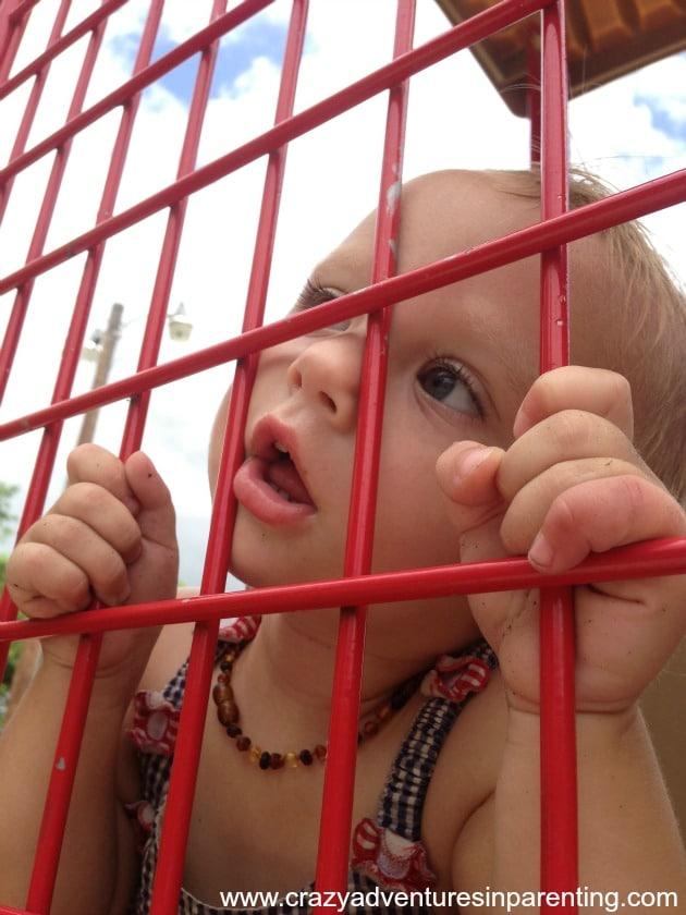 pondering toddler