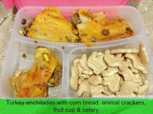 Homemade Enchiladas School Lunch
