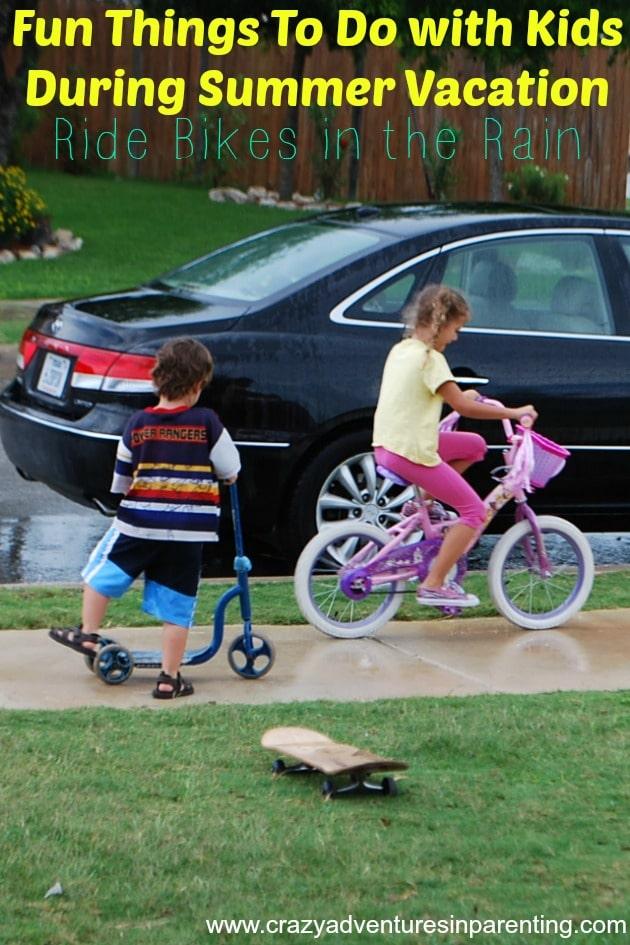 bikes in the rain