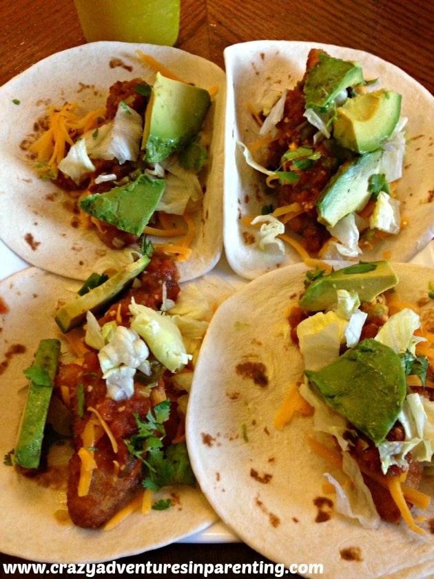 four fish tacos