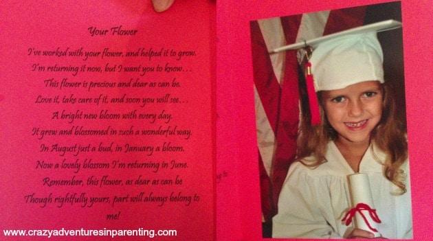 kindergarten card