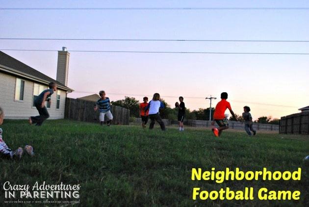 neighborhood football game