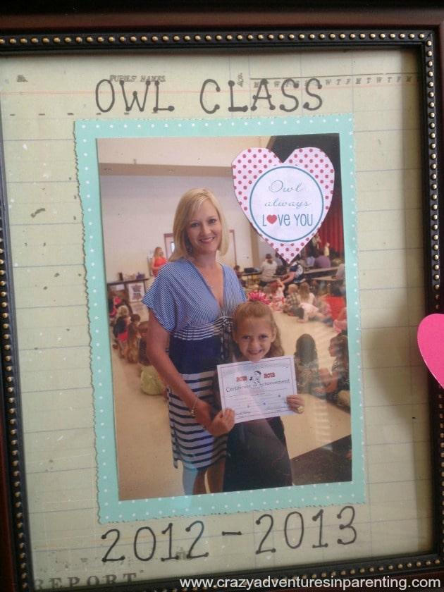owl picture frame teacher gift