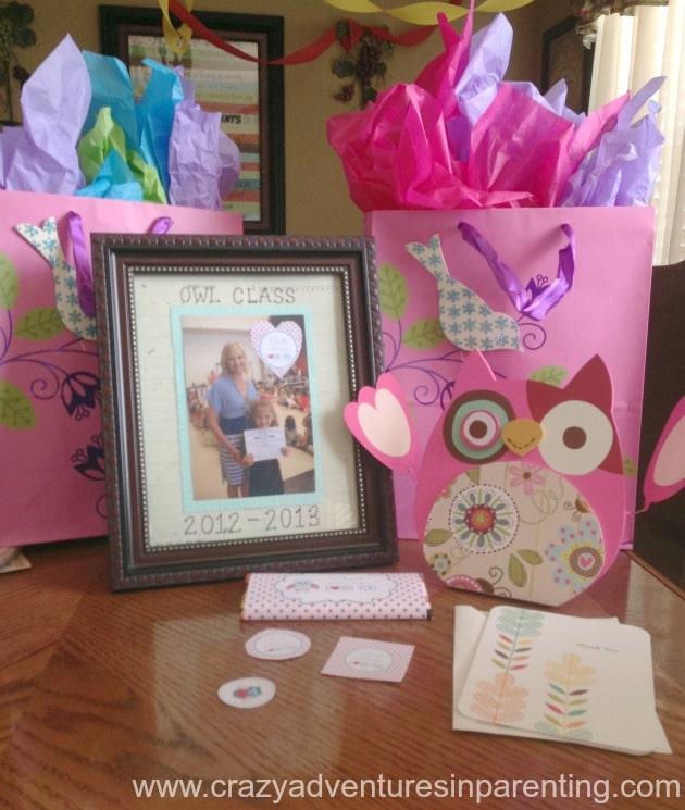 owl themed teacher gift