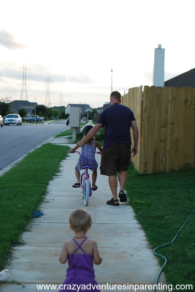 riding a two wheel bike for the first time