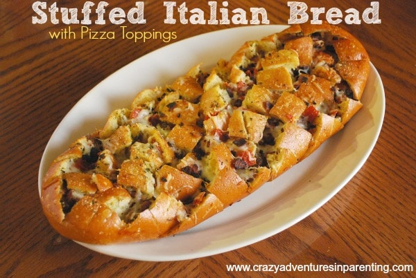 pizza stuffed italian bread