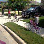 walk with bikes