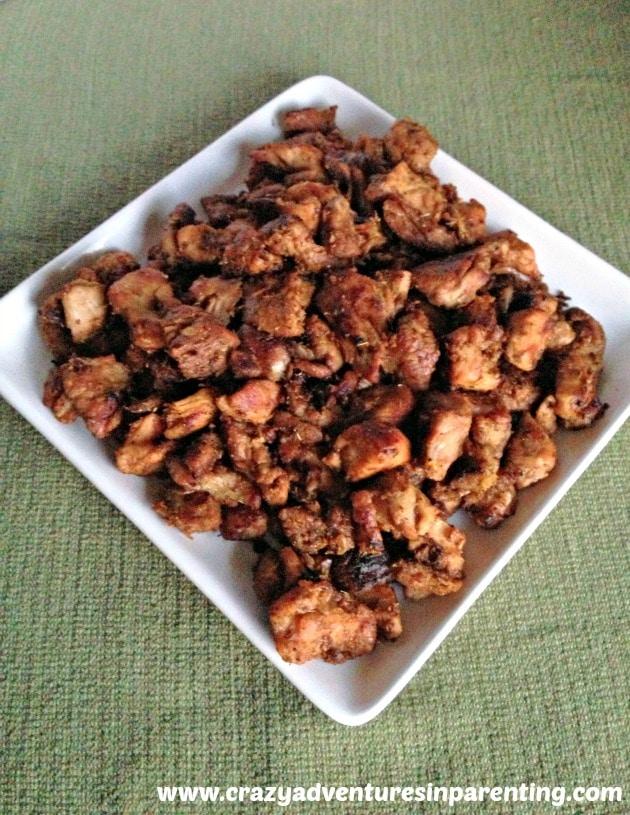 pork carnitas plated