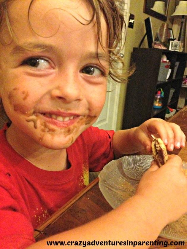 smores chocolatey face