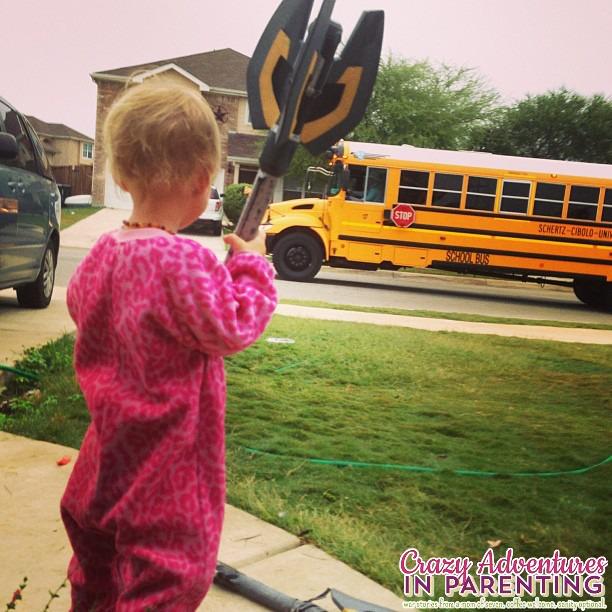 baby v bus