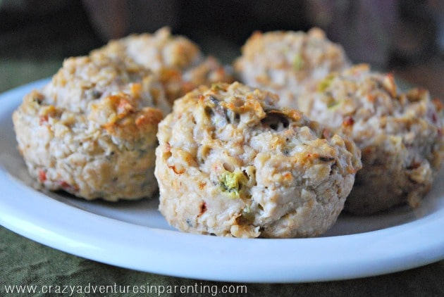 clean eating chicken muffins close up