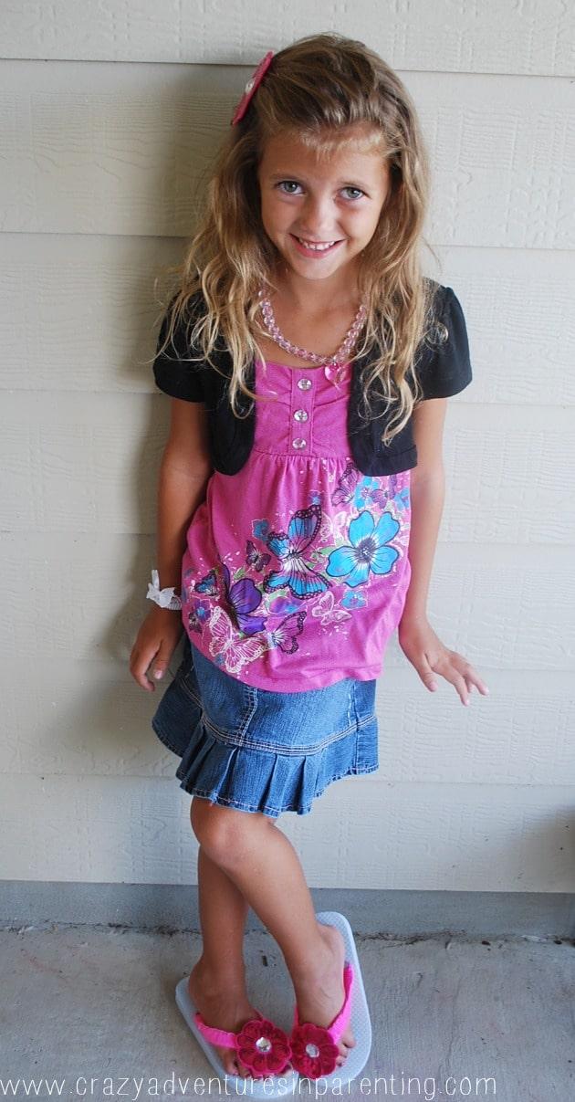 embellished flip flop outfit