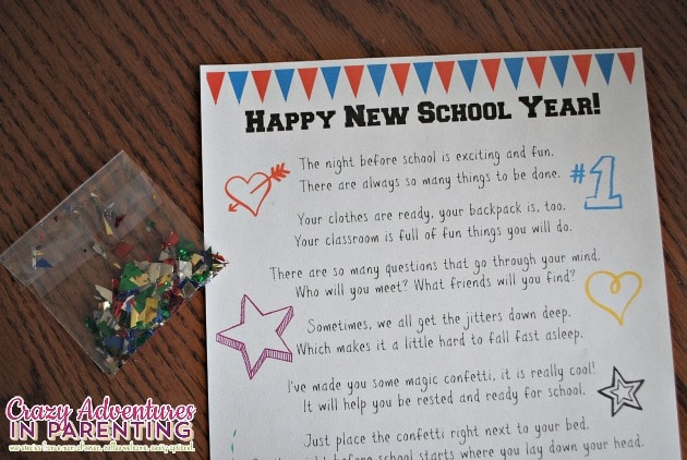 new school year printable with glitter
