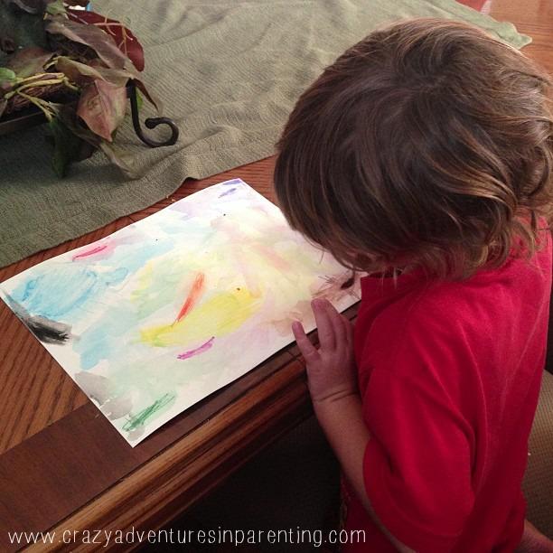 watercolor pencil art baby dude