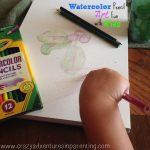 creating watercolor pencil art with kids