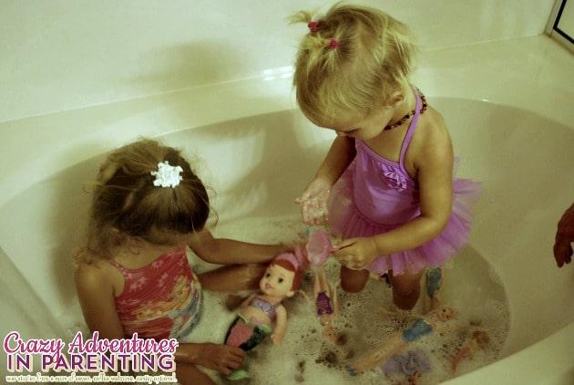 Disney The Little Mermaid Secret Reveal Ariel Doll in the bath