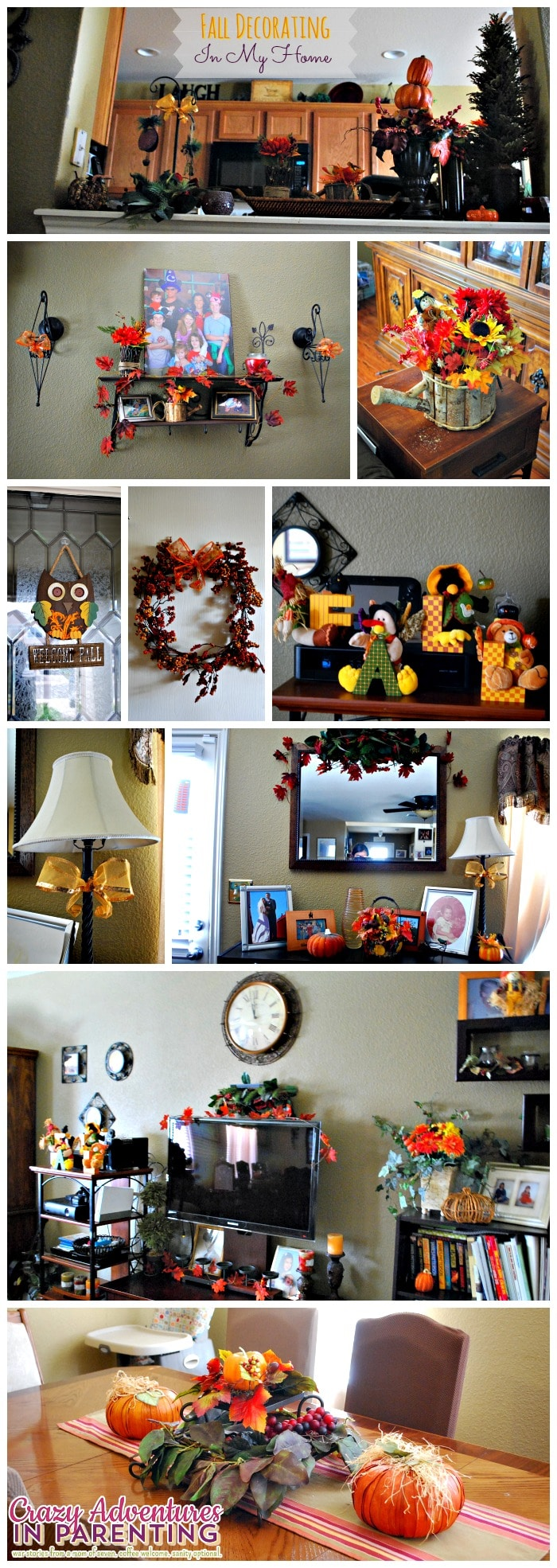 fall decorating in my home