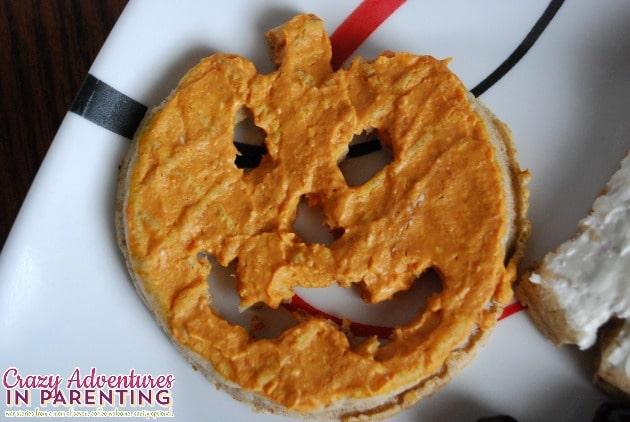 Halloween Pumpkin waffle cut-out