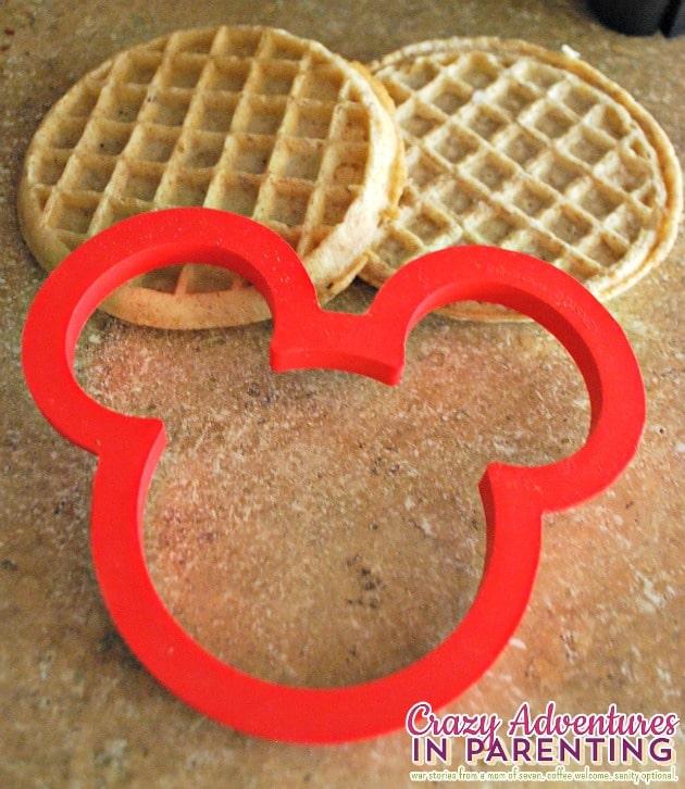 Mickey Mouse waffle shape