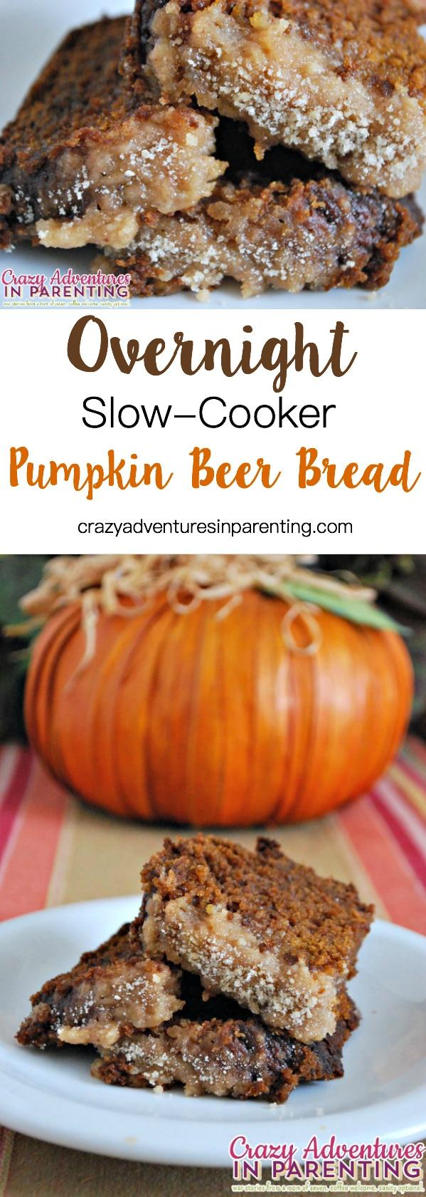 Overnight Slow Cooker Pumpkin Beer Bread