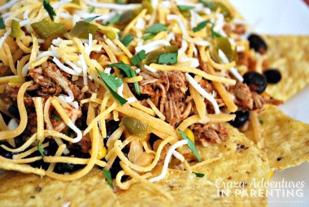 Slow Cooker Enchilada Chicken close up