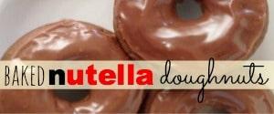 baked nutella doughnuts sidebar