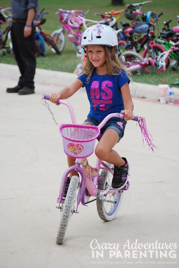 finished riding bikes