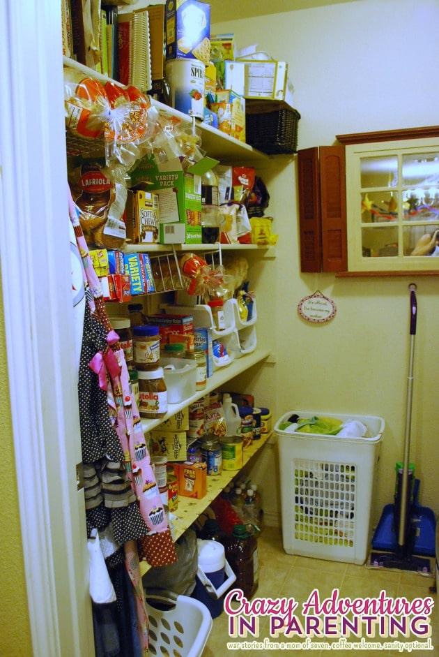 pantry reorganized