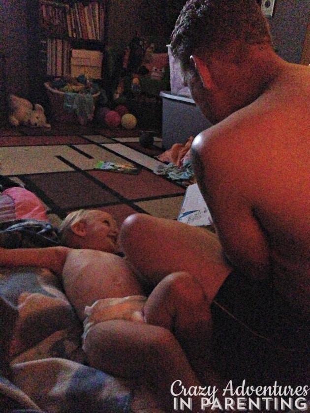 reading to Baby V