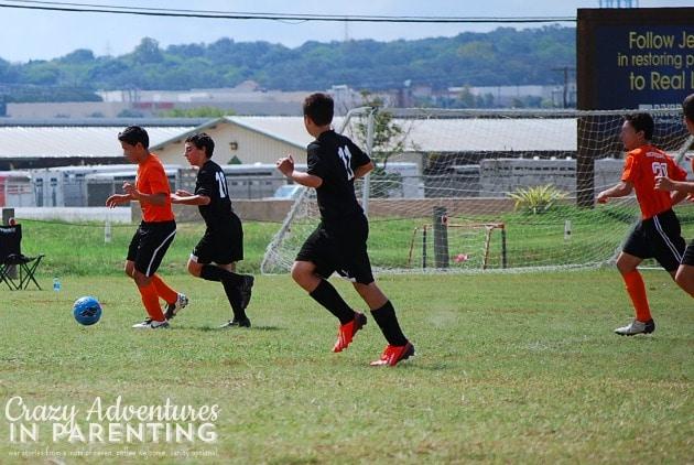 soccer game oldest son