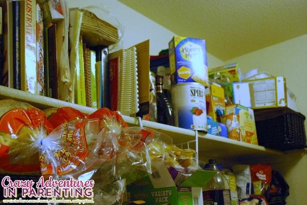 top shelf pantry