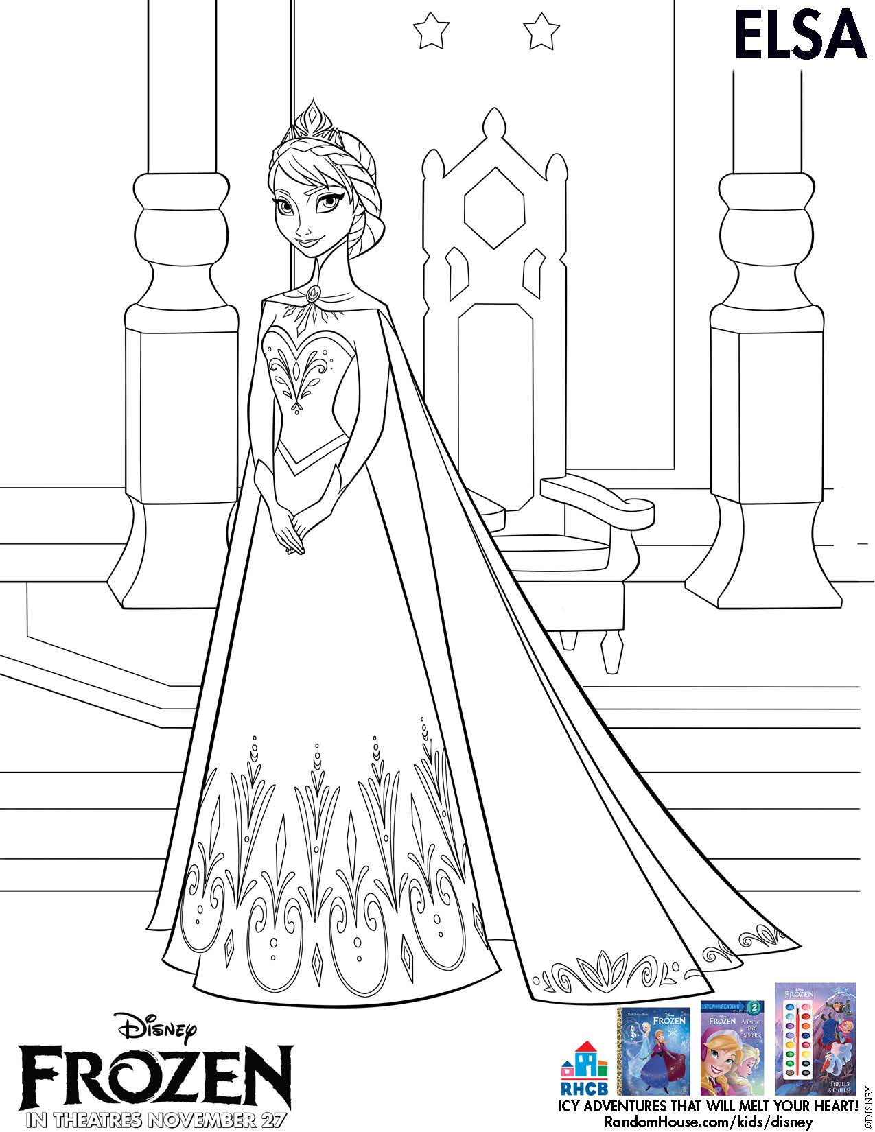 movie frozen free coloring pages - photo#33