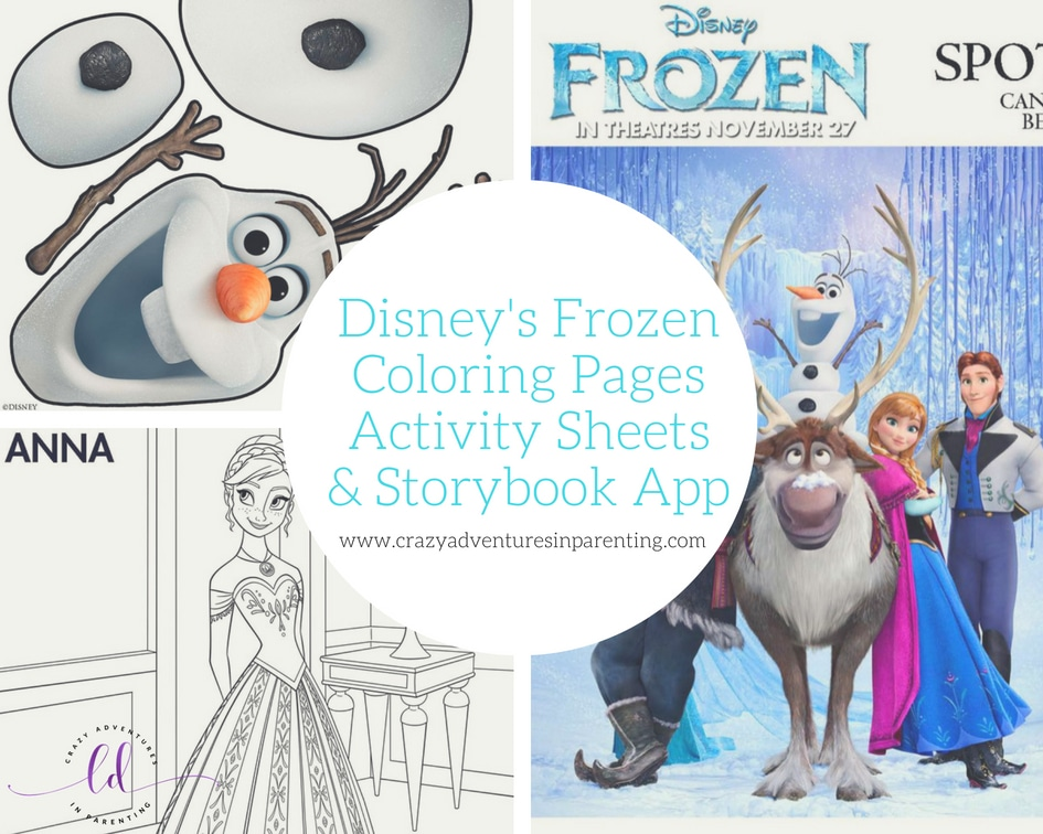 Disney's Frozen Printables, Coloring Pages, and Storybook App