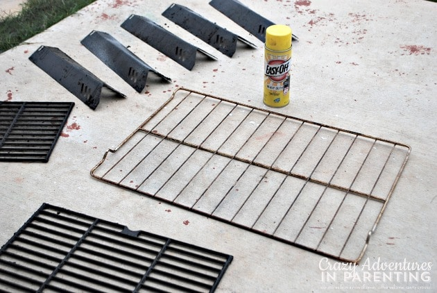 Easy Off Heavy Duty on oven and grill racks