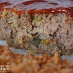 Slow Cooker Meatloaf close-up