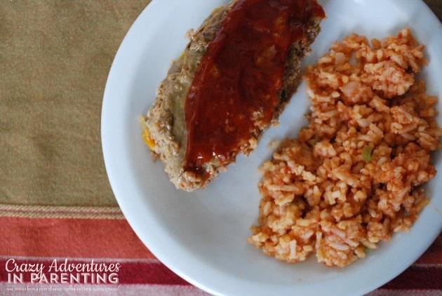 Slow Cooker Meatloaf plated