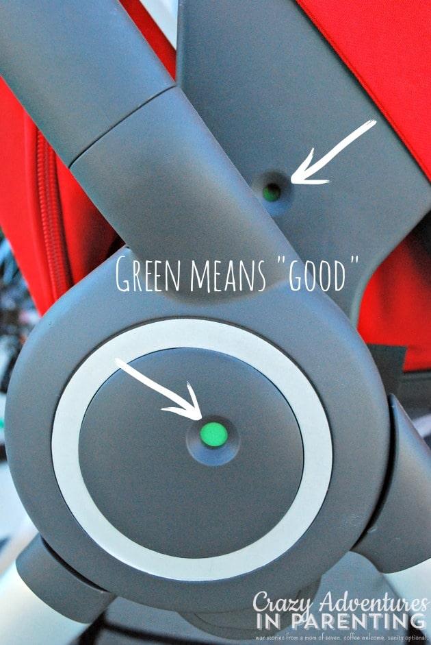 Stokke Scoot green circle indicators