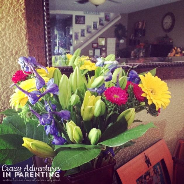 my birthday flowers
