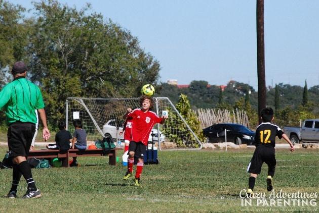son's soccer header