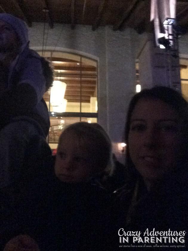 watching the Christmas tree lighting